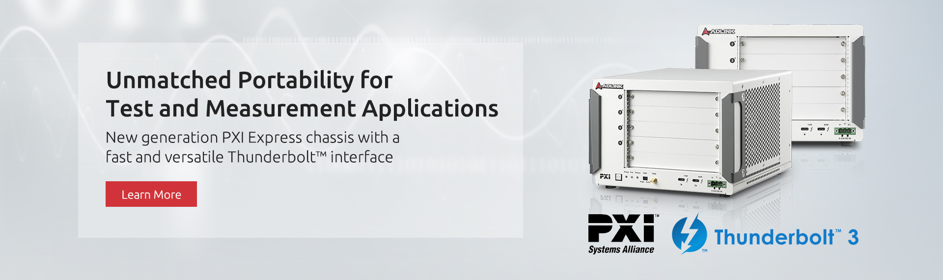 New generation PXI Express chassis with a fast and versatile Thunderbolt™ interface
