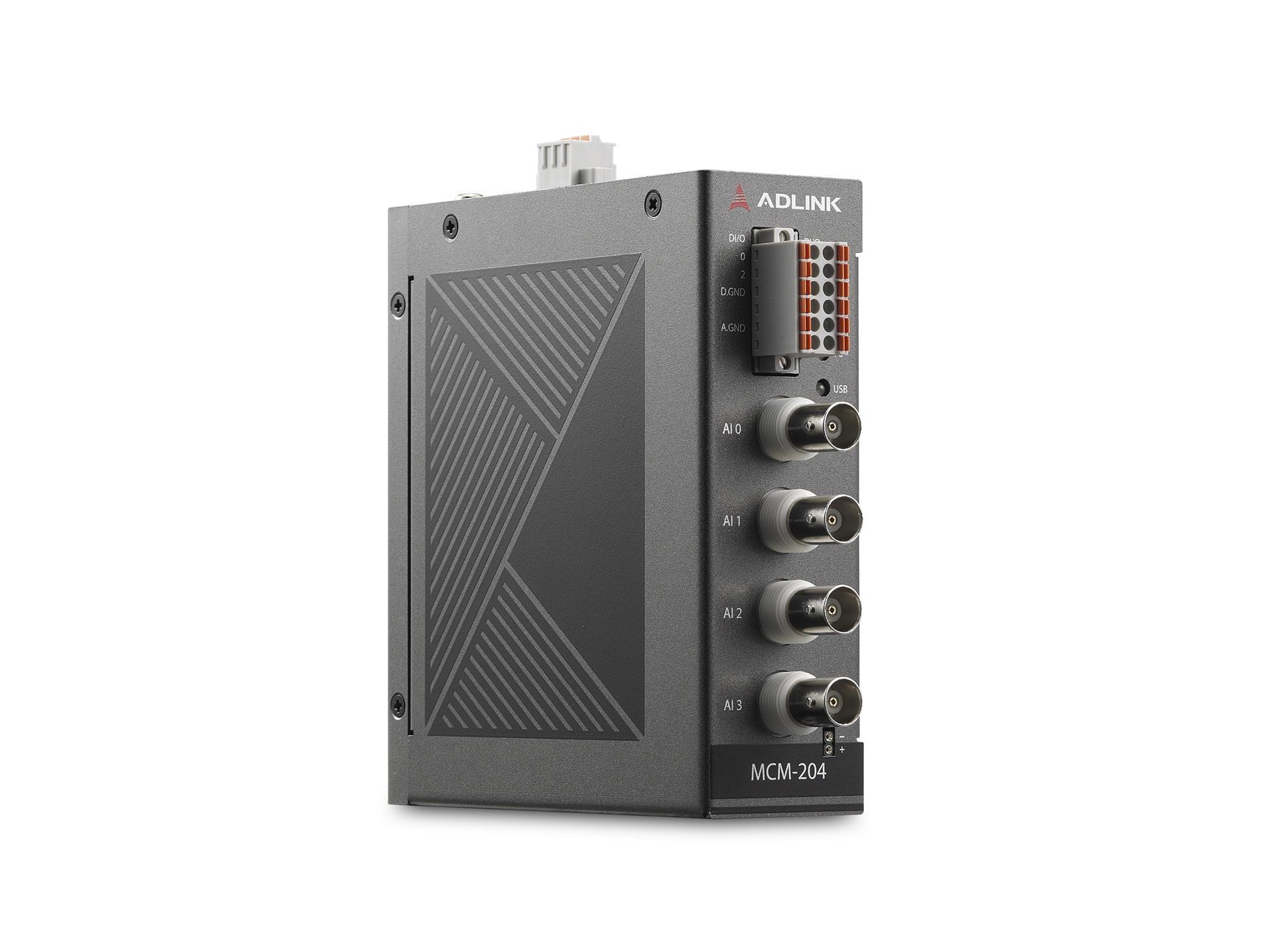 MCM-204<br />具备4通道模拟输入,24位,128kS/s,4通道DI/O性能的独立的以太网DAQ采集平台
