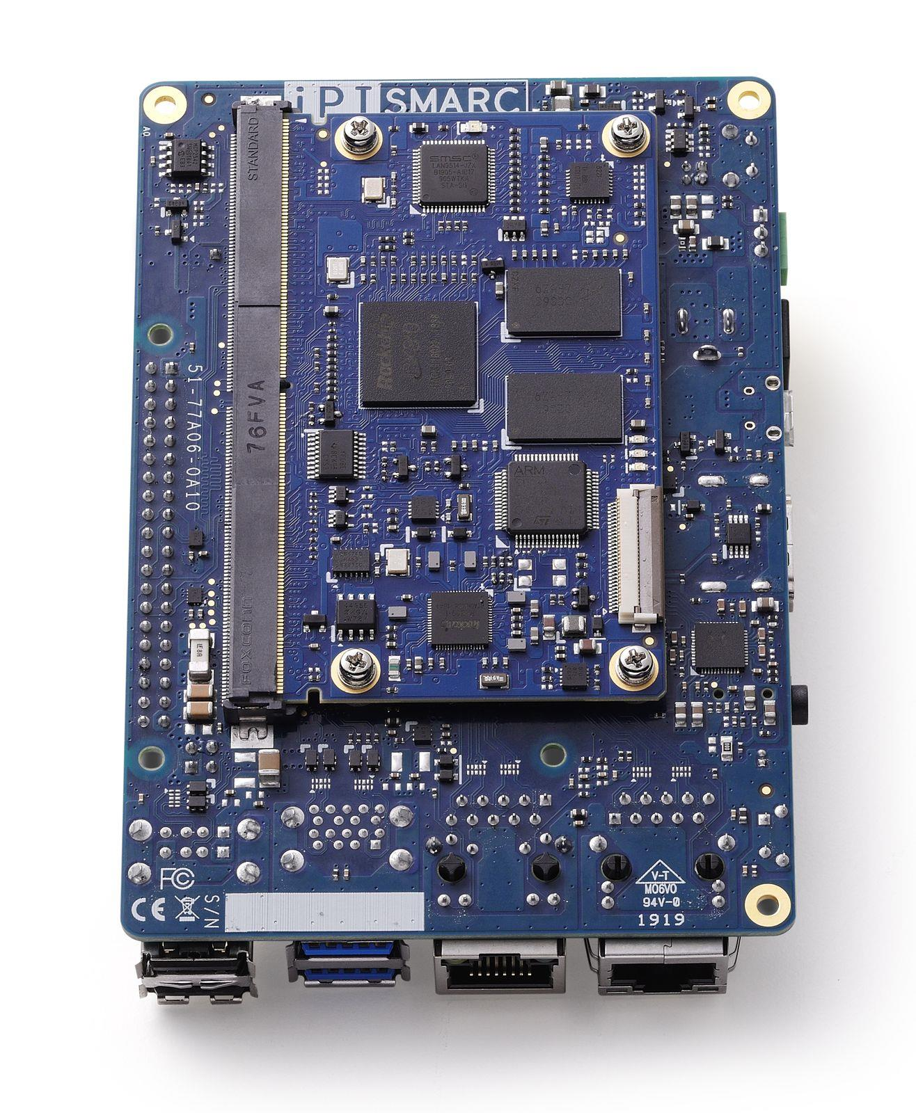 the underside of ADLINK&rsquo;s I-Pi carrier and SMARC processing module<br />Figure 3: Shown is the underside of ADLINK's I-Pi carrier and SMARC processing module. (Image source: ADLINK)