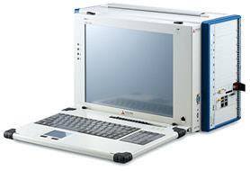 Figure 7: Portable monitor and keyboard kit installed for enhanced convenience<br />