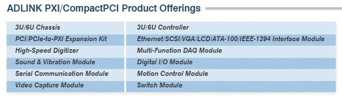 凌華科技PXI / CompactPCI產品<br />
